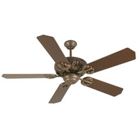 Craftmade K10902 Cordova 52 inch Aged Bronze Textured with Aged Bronze Blades Ceiling Fan Kit in MDF Blades, Standard, Light Kit Sold Separately, Blades Included