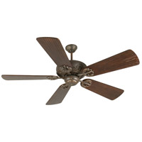Craftmade K10903 Cordova 54 inch Aged Bronze Textured with Hand-Scraped Walnut Blades Ceiling Fan Kit in Light Kit Sold Separately, Premier, Solid Wood Blades, Blades Included