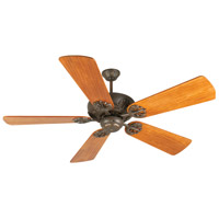 Craftmade K10905 Cordova 54 inch Aged Bronze Textured with Hand-Scraped Teak Blades Ceiling Fan Kit in Light Kit Sold Separately, Premier, Solid Wood Blades, Blades Included
