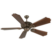 Craftmade K10906 Cordova 56 inch Aged Bronze Textured with Classic Ebony Blades Ceiling Fan Kit in Light Kit Sold Separately, Custom Carved, Solid Wood Blades, Blades Included