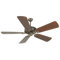 Craftmade K10933 Cxl 54 inch Aged Bronze Textured with Hand-Scraped Walnut Blades Ceiling Fan Kit in Light Kit Sold Separately Custom Carved Scraped