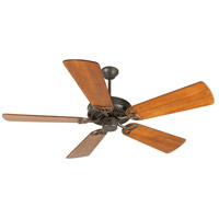 Craftmade K10934 CXL 54 inch Aged Bronze Textured with Distressed Teak Blades Ceiling Fan Kit in Light Kit Sold Separately, Premier, 0, Solid Wood Blades, Blades Included