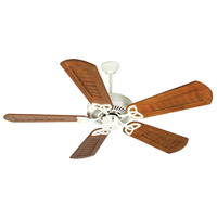 Craftmade K10941 Cxl 56 inch Antique White with Scalloped Walnut Blades Ceiling Fan Kit in Light Kit Sold Separately, Custom Carved Scalloped Walnut, Blades Included