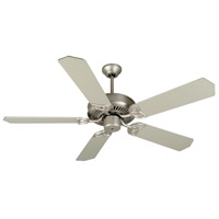 Craftmade K10942 Cxl 52 inch Brushed Satin Nickel with Brushed Nickel Blades Ceiling Fan Kit in Light Kit Sold Separately, Standard Brushed Nickel, Blades Included