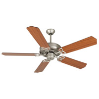 Craftmade K10943 Cxl 52 inch Brushed Satin Nickel with Reversible Cherry and Rosewood Blades Ceiling Fan Kit in Light Kit Sold Separately, Standard Cherry/Rosewood, Blades Included