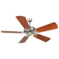 Craftmade K10946 CXL 54 inch Brushed Satin Nickel with Hand-Scraped Cherry Blades Ceiling Fan Kit in Light Kit Sold Separately, Premier, 0, Solid Wood Blades, Blades Included