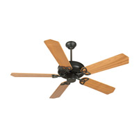 Craftmade K10957 CXL 52 inch Flat Black with Walnut Blades Ceiling Fan With Blades Included in Plywood Blades, Custom Wood, 0, Light Kit Sold Separately