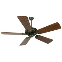 Craftmade K10959 Cxl 54 inch Flat Black with Hand-Scraped Walnut Blades Ceiling Fan Kit in Light Kit Sold Separately Custom Carved Scraped Walnut