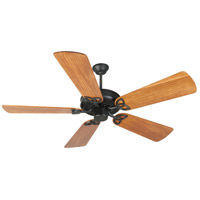 Craftmade K10961 CXL 54 inch Flat Black with Hand-Scraped Teak Blades Ceiling Fan Kit in Light Kit Sold Separately, Premier, 0, Solid Wood Blades, Blades Included