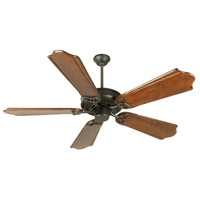 Craftmade K10962 CXL 56 inch Flat Black with Classic Ebony Blades Ceiling Fan Kit in Light Kit Sold Separately, Custom Carved, 0, Solid Wood Blades, Blades Included