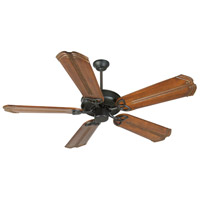 Craftmade K10963 CXL 56 inch Flat Black with Oak with Aged Bronze Accents Blades Ceiling Fan Kit in Light Kit Sold Separately, Custom Carved, Chamberlain Oak with Aged Bronze Accents, 0, Solid Wood Blades, Blades Included