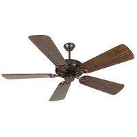 Craftmade K10968 Cxl 54 inch Oiled Bronze with Hand-Scraped Walnut Blades Ceiling Fan Kit in Light Kit Sold Separately, Custom Carved Scraped Walnut
