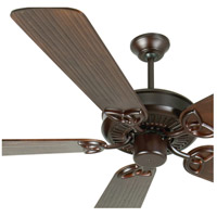 Craftmade K10968 Cxl 54 inch Oiled Bronze with Hand-Scraped Walnut Blades Ceiling Fan Kit in Light Kit Sold Separately, Custom Carved Scraped Walnut, Blades Included alternative photo thumbnail