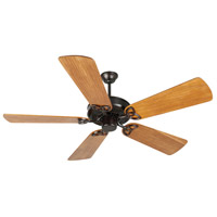 Craftmade K10970 Cxl 54 inch Oiled Bronze with Hand-Scraped Teak Blades Ceiling Fan Kit in Light Kit Sold Separately, Custom Carved Teak