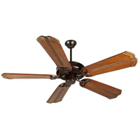 Craftmade K10972 Cxl 56 inch Oiled Bronze with Oak with Aged Bronze Accents Blades Ceiling Fan Kit in Light Kit Sold Separately, Custom Carved Chamberlain Oak with Aged Bronze Accents