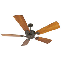 DC Epic 70 inch Aged Bronze Textured Hand-Scraped Teak Ceiling Fan With Blades Included in Premier, Light Kit Sold Separately