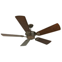 DC Epic 70 inch Aged Bronze Textured Reversible Hand-Scraped Walnut/Walnut Ceiling Fan With Blades Included in Premier, Light Kit Sold Separately