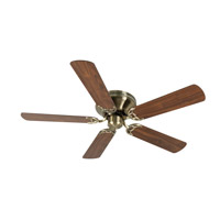 Craftmade K10998 Pro Contemporary 52 inch Antique Brass with Walnut Blades Flushmount Ceiling Fan Kit in Contractor Plus Light Kit Sold Separately