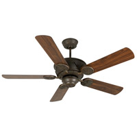Craftmade K11010 Chaparral 52 inch Aged Bronze Textured with Walnut Blades Ceiling Fan Kit in Light Kit Sold Separately Plus Walnut