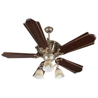 Craftmade K11013 Toscana 56 inch Athenian Obol with Classic Walnut and Vintage Madera Blades Ceiling Fan Kit in Amber Frost Glass Custom Carved