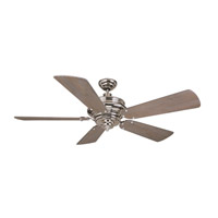 Craftmade K11021 Townsend 54 inch Polished Nickel with Heavy Distressed Aged Pine Blades Ceiling Fan Kit in Light Kit Sold Separately, Premier, 0, Blades Included