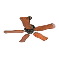 Craftmade K11022 Townsend 54 inch Oiled Bronze with Mahogany Blades Ceiling Fan Kit in Light Kit Sold Separately, Custom Carved, 0, Blades Included