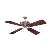 "Craftmade K11059 Monroe 54 inch Tarnished Silver with Hand-Scraped Walnut Blades Ceiling Fan Kit in 54"" Blades Included"