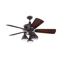 Craftmade K11066 Timarron 54 inch Aged Bronze Brushed with Hand-Scraped Walnut Blades Ceiling Fan Kit in Premier, 7, Blades Included