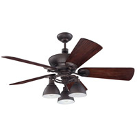 Craftmade Timarron 7 Light Ceiling Fan With Blades Included in Aged Bronze Brushed K11066