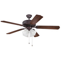 Pro Builder 203 52 inch Oiled Bronze with Walnut Blades Ceiling Fan With Blades Included in Contractor Standard