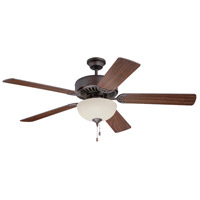 Craftmade K11103 Pro Builder 202 52 inch Aged Bronze Textured with Walnut Blades Ceiling Fan Kit in Contractor Plus, Blades Included