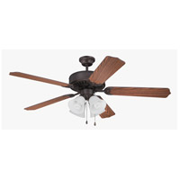 Craftmade K11106 Pro Builder 203 52 inch Aged Bronze Brushed with Dark Oak Blades Ceiling Fan Kit in Contractor Standard, Blades Included