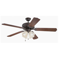 Pro Builder 204 52 inch Aged Bronze Textured with Walnut Blades Ceiling Fan With Blades Included in Contractor Standard
