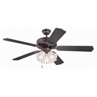 Craftmade Pro Builder 204 4 Light Ceiling Fan With Blades Included in Oiled Bronze K11110