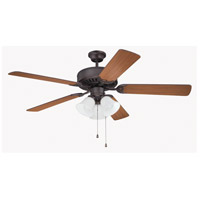 Craftmade K11111 Pro Builder 205 52 inch Aged Bronze Brushed with Walnut Blades Ceiling Fan Kit in Contractor Plus Walnut