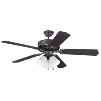 Craftmade K11113 Pro Builder 205 52 inch Flat Black Ceiling Fan Kit in Contractor Standard, Blades Included