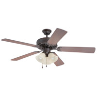 Pro Builder 206 52 inch Aged Bronze Textured with Washed Walnut Birch Blades Ceiling Fan With Blades Included in Contractor Plus