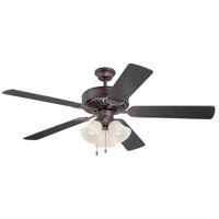 Pro Builder 206 52 inch Oiled Bronze Ceiling Fan With Blades Included in Contractor Plus