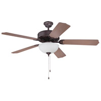 Craftmade Pro Builder 207 2 Light Ceiling Fan With Blades Included in Oiled Bronze K11122