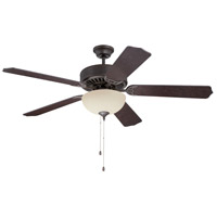 Pro Builder 208 52 inch Aged Bronze Textured with Aged Bronze Blades Ceiling Fan With Blades Included in Contractor Standard