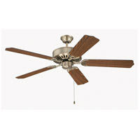 Craftmade K11131 Pro Builder 52 inch Antique Brass with Dark Oak Blades Ceiling Fan Kit in Custom Carved Dark Oak
