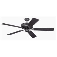 Craftmade K11136 Pro Builder 52 inch Flat Black Ceiling Fan Kit in Custom Carved Flat Black