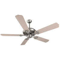Cecilia 52 inch Brushed Satin Nickel with White Washed Blades Ceiling Fan Kit in Contractor Standard, Blades Included