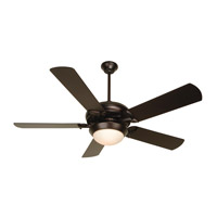 Craftmade K11140 Civic 52 inch Oiled Bronze Ceiling Fan Kit in MDF Blades, Contractor Plus, 0, Cased White Glass, Blades Included
