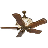 Cortana 52 inch Peruvian Bronze with Walnut Blades Ceiling Fan With Blades Included in Solid Wood Blades, Custom Carved, 3