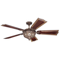 Craftmade Evangeline 3 Light Ceiling Fan With Blades Included in Peruvian Bronze K11146