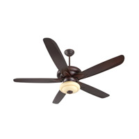 Craftmade K11158 Zena 56 inch Oiled Bronze Gilded Ceiling Fan Kit in Walnut, Amber Frost Glass, Blades Included