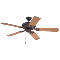Craftmade K11210 Cecilia 52 inch Aged Bronze Textured with Teak Blades Ceiling Fan Kit in Contractor Teak