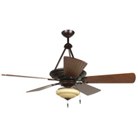 Craftmade K11228 Metro 54 inch Oiled Bronze Gilded with Hand-Scraped Walnut Blades Ceiling Fan Kit in Premier Hand-Scraped Walnut