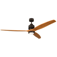 Craftmade K11260 Sonnet 60 inch Espresso with Light Oak Blades Ceiling Fan Kit in 60